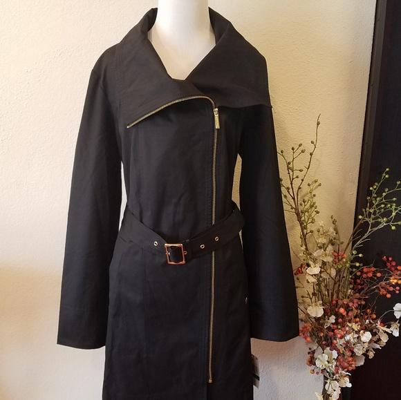 76f97068da1 Michael Kors Black Trench Coat Large
